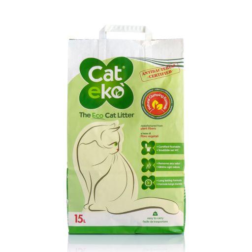 Cateko' - Lettiera Vegetale Ecologica Per Gatti - 15 Litri