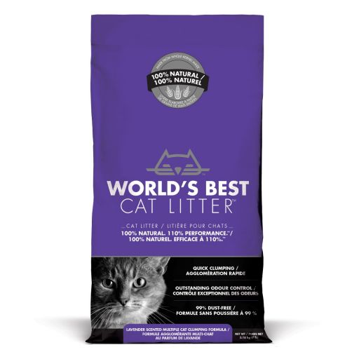 World's Best Cat Litter - Lettiera Vegetale Per Gatti - Lavanda -3.18kg