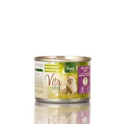 VitaVeg - Cibo Per Gatti - Patè 100% Vegetale - 185gr.