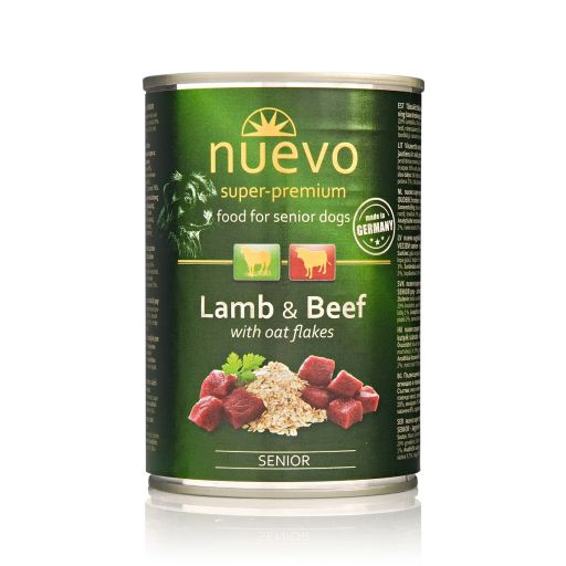 Nuevo - Cibo Per Cani - Agnello e Manzo + Avena - Senior - 400gr.