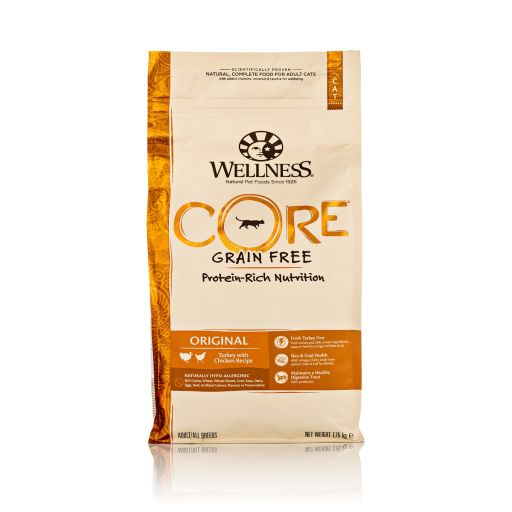 Wellness CORE - Cibo Secco Per Gatti - Tacchino e Pollo - Adulti - 1.75kg