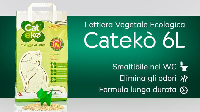 Cateko' : Lettiera vegetale ecologica per gatti