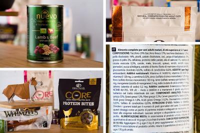 Le etichette & il cibo di alta qualità per i nostri cani e i nostri gatti